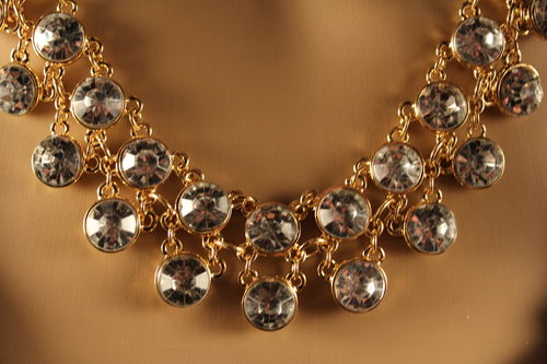 Bubbly Crystal Clustered Chunky Statement Necklace