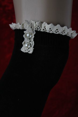 Over the Knee Faux Pearl Button Lace Long Knit Thigh High Stocking Socks-3 Colors