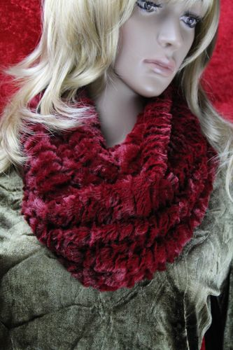 Warm & Fuzzy Fur Infinity Scarf - Elegant Double Wrap (Three Rich Colors)
