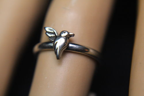 Sterling Silver Hummingbird Ring Dainty Symbol for All That is Good Ass't Sizes