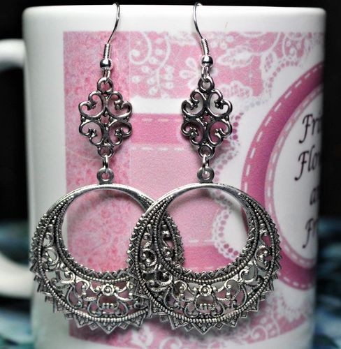 Boho Gypsy Style Hoop Earrings (Handmade)