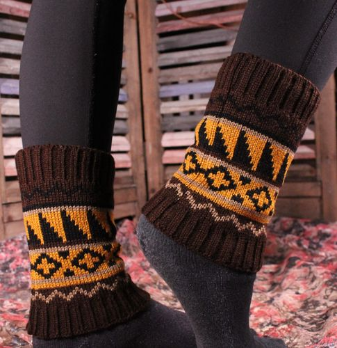 Aztec Boot Cuffs Leg Warmers Colorful Soft and Warm Fashion Boot Toppers (Assorted Colors)