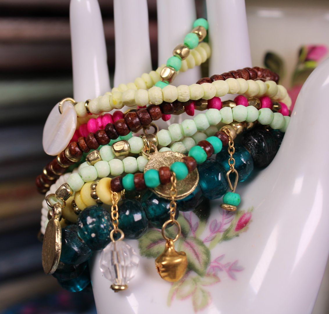 Multi-Strand Charm Bracelet Set