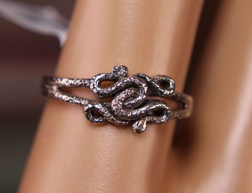 .925 Sterling Silver Snake Ring Nest of Coiling Serpents
