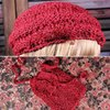 Bohemian Crocheted Beret and Bag Unique Texture and Design (Handmade)
