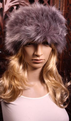 Faux Fur Head Warmer Russian Hat Style Thick Furry Headband Assorted